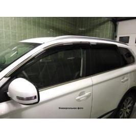 Дефлекторы боковых окон с хром. молдингом, OEM Style (SD) OEM-Tuning BMDM61423 для Mazda 6 (2015 - 2017)