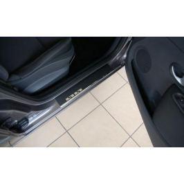 Накладки на внутренние пороги с надписью Alu-Frost 29-1773 для Mazda 3 2013-2017