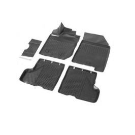 Коврики салона (полиуретан), чёрные (с бардачком) Rival 16007001 для LADA X Ray-