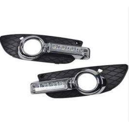 Штатные светодиодные дневные ходовые огни (ДХО), комлект. OEM DRL DRL21722 для Mitsubishi Lancer 2007 -