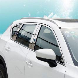 Хромированные накладки на стойки дверей для Mazda CX-5 2017 -