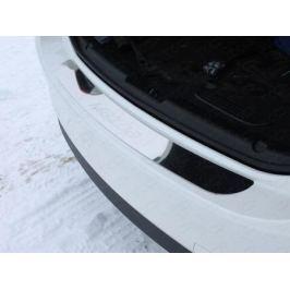 Накладка на задний бампер (лист зеркальный надпись Mazda) ТСС MAZ615-09 для Mazda 6 (2015 - 2017)