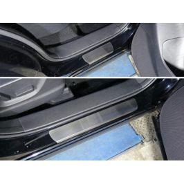 Накладки на пороги (лист шлифованный) 1 мм ТСС MAZCX515-24 для Mazda CX-5 (2015 - 2017)