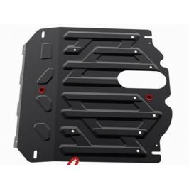 Защита картера и КПП, сталь (V - 2.2D; 2.4i) Автоброня 111.02341.1 для HYUNDAI Grand Santa Fe, Santa Fe (2012 - 2016)