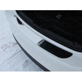 Накладка на задний бампер (лист зеркальный) ТСС MAZ615-07 для Mazda 6 (2015 - 2017)