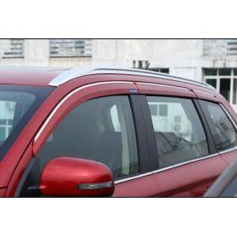 Дефлекторы боковых окон с хром молдингом COLOR для Mitsubishi Outlander 3