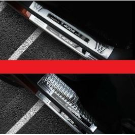 Накладки на пороги внешние + внутренние с надписью 4008 для Peugeot 3008 2017-