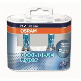 Лампа галогенная OSRAM 5000K H7 Cool Blue Hyper Plus, 12V 55 W, 2 шт