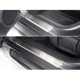 Накладки на пороги (лист шлифованный) 1мм ТСС для Nissan X-trail T32