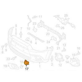 Заглушка передней противотуманной фары Mitusbishi