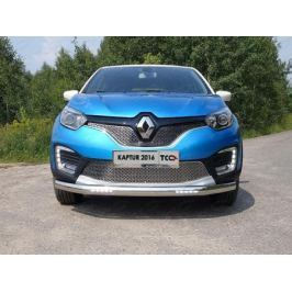 Решетки радиатора верхняя и нижняя (лист) ТСС для Renault Kaptur 2016 -