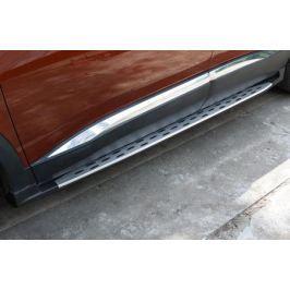 Боковые подножки, пороги BMW Style для PEUGEOT 3008 2017 -