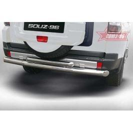 Защита задняя двойная 76+60 мм Souz-96 MIPJ.75.0407 для Mitsubishi Pajero IV 2006-