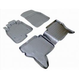 Коврики салона (полиуретан), чёрные Norplast NPL-Po-59-48 для Mitsubishi Pajero IV 2006-