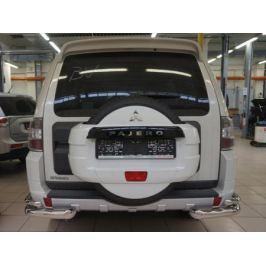 Защита заднего бампера уголки d 76/42 мм, нерж. CAN Otomotiv MIPA.53.1913 для Mitsubishi Pajero IV 2006-