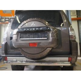 Защита заднего бампера одинарная d 76 мм, нерж. CAN Otomotiv MIPA.55.1921 для Mitsubishi Pajero IV 2006-
