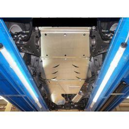 Защита днища, из 4 частей, алюминий (V-3,0; 3,2D) АВС-Дизайн 14.11ABC для Mitsubishi Pajero IV 2006-