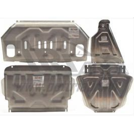 Защита картера, радиатора, КПП и РК, 4 части, алюминий 4 мм (V-все) АВС-Дизайн ALF01720AL для Mitsubishi Pajero IV 2006-
