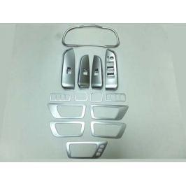 Комплект накладок во внутренний интерьер, 14 частей, ABS хром OEM-Tuning CNT17-15HLD-14SETS Toyota Highlander 2014 -