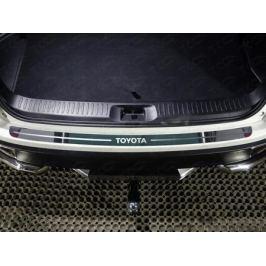 Накладка на задний бампер (лист зеркальный надпись Toyota) ТСС TOYHIGHL17-21 Toyota Highlander 2014 -