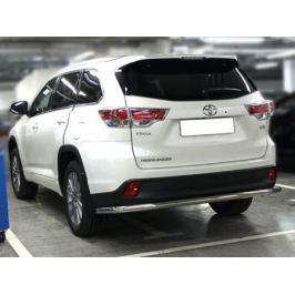 Защита заднего бампера d-60 Технотек HYG 2014_3.1 Toyota Highlander 2014 -