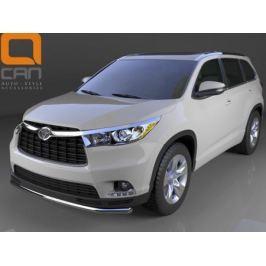 Защита переднего бампера одинарная d 60 мм, нерж. CAN Otomotiv TOHI.33.0037 Toyota Highlander 2014 -