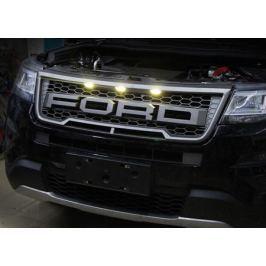 Решетка радиатора с подсветкой (Raptor F150) для Ford Explorer 2015-