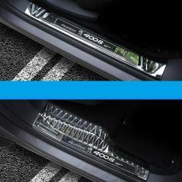 Накладки на пороги (внутренние) хром для Peugeot 3008 2017-