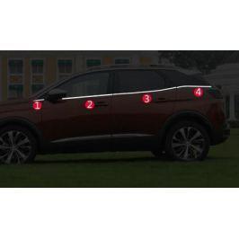 Хромированные молдинги на окна (нижнии) для Peugeot 3008 2017-