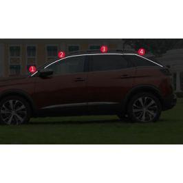 Хромированные молдинги на окна (верхнии) для Peugeot 3008 2017-