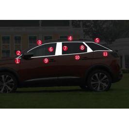 Хромированные молдинги на окна для Peugeot 3008 2017-