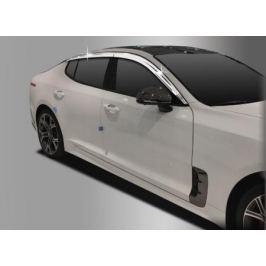Дефлекторы на окна хромированные Auto Clover для KIA Stinger 2018 -