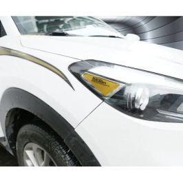 Наклейки на передние фары для Hyundai Tucson 2015 -