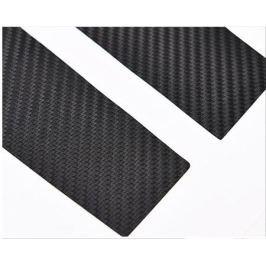Наклейки на боковые оконные стойки (цвет черный, хром) для Jeep Сherokee 2015 -