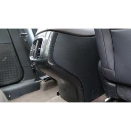 Накладка на тумбу подлокотника (черный карбон) для Jeep Сherokee 2015 -