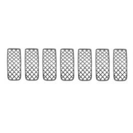Окантовка решетки радиатора и воздухозаборников для Jeep Сherokee 2015 -