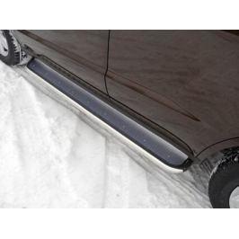 Боковые подножки, пороги (нержавеющая сталь, диаметр 42,4 мм) ТСС GEELEMGX715-10 для Geely Emgrand X7 2017 -