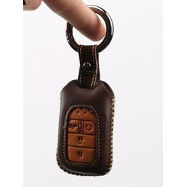 Чехол для ключа (кожа, цвет черный, коричневый) для Honda CRV 2017 -