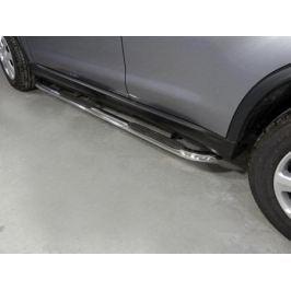Боковые подножки, пороги (овальные, гнутые, толщина 75 мм / 42 мм.) TCC MITSASX17-05 для Mitsubishi ASX 2016 -