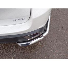 Защита задняя двойная (уголки овальные, толщина 60 мм / 42 мм) TCC TOYHIGHL17-34 для Toyota Highlander 2017 -