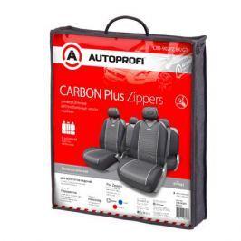 Чехлы майки на сиденья CARBON PLUS Zippers CRB-902PZ BK/GY