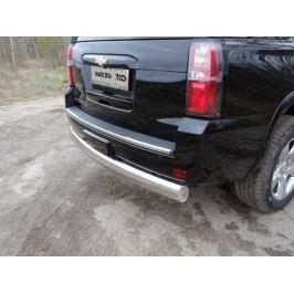Задняя защита 120х60мм (овальная) CHEVTAH16-19 Chevrolet Tahoe IV 2015-