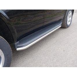 Защита штатного порога 42мм CHEVTAH16-08 Chevrolet Tahoe IV 2015-