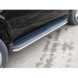 Защита штатного порога 50мм CHEVTAH16-21 Chevrolet Tahoe IV 2015-