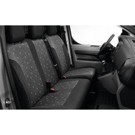 Чехлы передних сидений (тканевые) без возможности перевода сиденья в положение столика Peugeot 1614269980 для Peugeot Traveller 2017 -