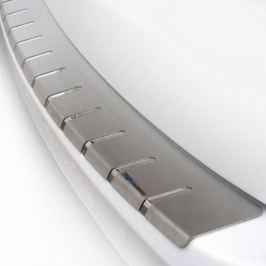 Накладка на задний бампер с загибом (нержавеющая сталь, хром)