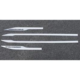 Декоративные накладки на боковые пороги и передний бампер (хром)