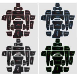 Комплект ковриков в салонные ниши (разные цвета)