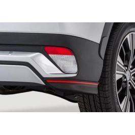Накладки на задний бампер (карбон с красной полосой) Mitsubishi MZ576676EX для Mitsubishi Eclipse Cross 2018 -