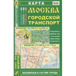 Москва. Городской транспорт. Карта